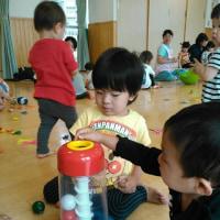6月7日YMCAたかつ保育園にておもちゃの広場