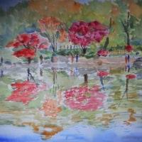 昭和記念公園(B3)水彩