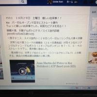 その1 嬉しいKeiのバーゼルオープンベスト4進出 昨日の出来事たくさん!!