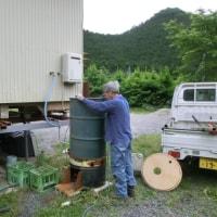 '17.06.18 仮設風呂設置計画7・手作りボイラー機能試験