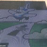 紙に描いたイラストが宙に浮いて見える、立体錯覚アニメーション