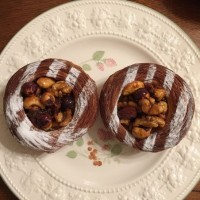 3D ナッツぎっしりパン 4種ミックスナッツのキャラメルソースがけ、コーヒークリームのデニッシュ 絶品パン