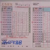 今日のゴルフ挑戦記(67)/新千葉CC「たちばな」アウト→イン(ベント)