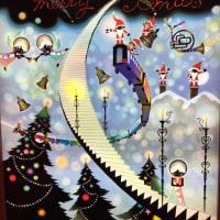 ストレッチレッスン後、銀座のクリスマス