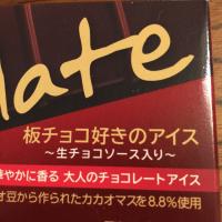 板チョコアイス エクアドル産カカオが香るチョコと生チョコソース入 森永 板チョコ好きのアイス 真冬のアイスも美味なり♡