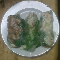 昨日は「生春巻き」を食べました!。