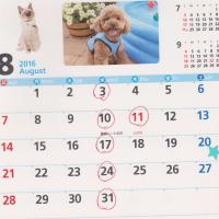 8月は暦通り診療いたします(盆休みはありません)