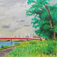 庄内川ー下之一色大橋から(松陰遊園地)