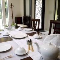 6月リクエストメニュー エンゼル・フード・ケーキのテーブル