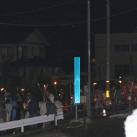 左義長祭りもフィナーレは「大ドンド焼き」。