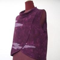 絞りの羽織りからロールカラ‐ベスト(オーダー)