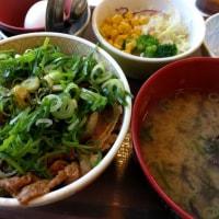 ねぎ玉牛丼しじみ汁サラダセット