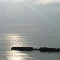 湯野浜の夕陽