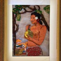 アリワーク、絵画刺繍、、、ゴーギャン
