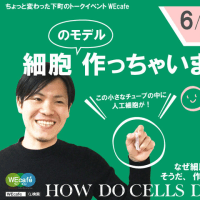 WEcafe vol.61 「細胞(のモデル)つくっちゃいました」6/4(日)開催!