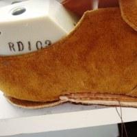 初めて革靴の自作 本底の縫製
