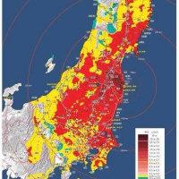 東北の日本海側の汚染