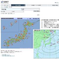 山行報告書に天気図添付の巻