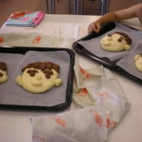 2011年6月キッズパン教室「大好きな人の顔パン」