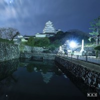 姫路城×星×月