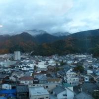 鬼ゲ城山系に初雪