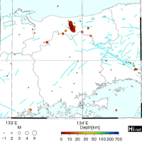 2016年10月21日(金)14:07頃 鳥取県中部を震源とする地震