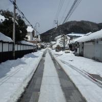 雪の状態 町中