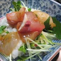 ながいもかいわれ刺身サラダとコンソメ野菜スープで木曜の晩ご飯