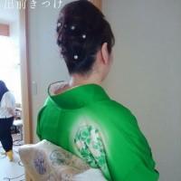 6月24日3件中、一件目は富田林市、七五三の前撮りに行かれる着付&ヘアセットでした。