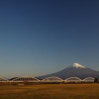 2017/1/3の富士山と「ちきゅう」