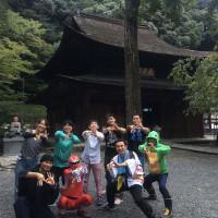 定光寺に赤レンジャー現る!