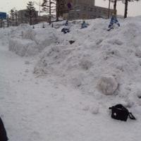 風・雪・・・つ、強いです
