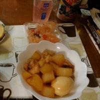 12月3日夕 鶏手羽元と大根と玉子の煮物