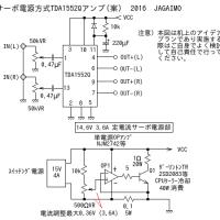 サーボ電源TDA1552Qアンプ案