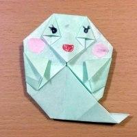 ◎本日の折り紙その1(ゴースト)