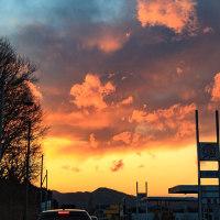 国道50号にて(2011年3月11日)