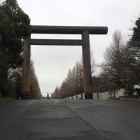 靖国神社で