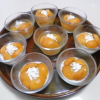 jelly and milk pudding