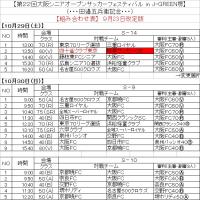 第22回大阪シニアオープン組合せ