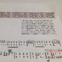 楽譜の上部にハーモニカ配列図添付