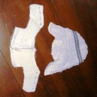 羽根つき革靴の型紙を作る