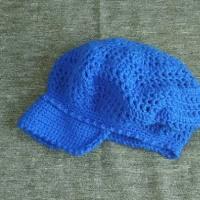 子ども用キャスケット帽(青)