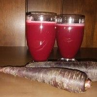 紫人参でコールドプレスジュース作りました