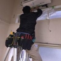 ロフト付きのお部屋のエアコン工事