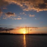 5月27日の夕陽