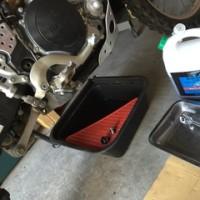 オイル交換、ワイヤー注油、エアクリーナー洗浄