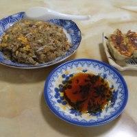 今日の朝御飯は炒飯と餃子のゴールデンコンビ@自宅