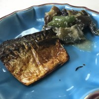 茄味噌と鯖 mackerel and Miso paste