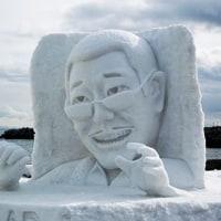 ここにもPPAPの雪像が!!