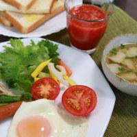 21日 トースト朝食